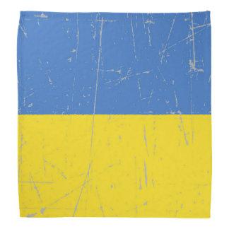 Bandera ucraniana rascada y rasguñada bandanas