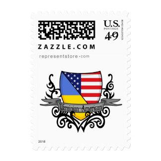 Bandera Ucraniano-Americana del escudo