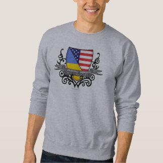Bandera Ucraniano-Americana del escudo Suéter