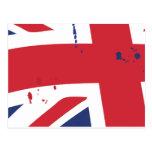 Bandera UK English London Tarjeta Postal