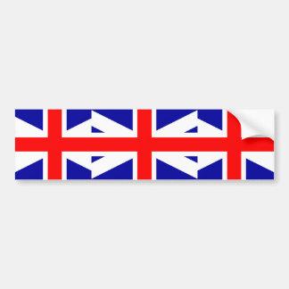 Bandera unida de los legitimistas del imperio pegatina de parachoque