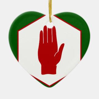 Bandera unida del emblema de Irlanda del Norte Adorno De Cerámica En Forma De Corazón