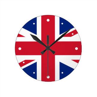 Bandera Union Jack de Reino Unido Relojes De Pared