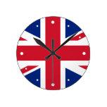 Bandera Union Jack de Reino Unido Reloj Redondo Mediano