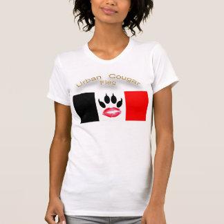 Bandera urbana del puma de doble cara camiseta