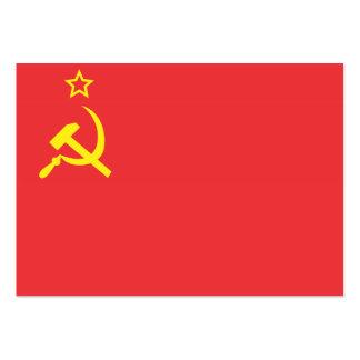 Bandera URSS Tarjetas De Visita Grandes