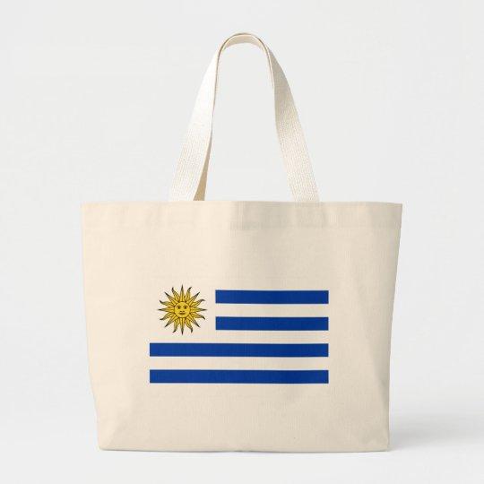 Bandera Uruguay Large Tote Bag