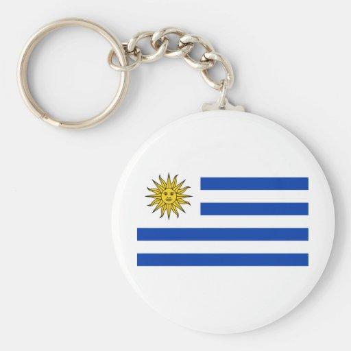 Bandera Uruguay Llavero Redondo Tipo Pin