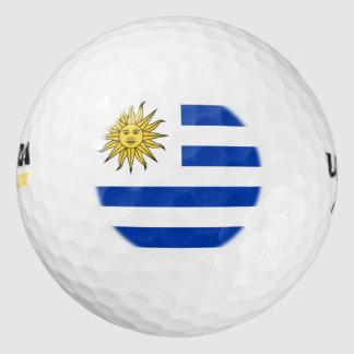 Bandera uruguaya pack de pelotas de golf