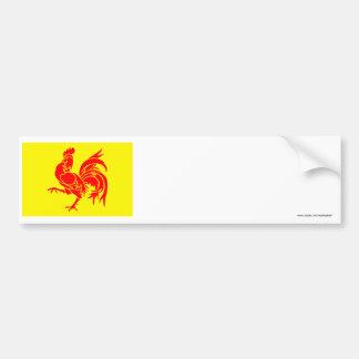 Bandera valona de la región etiqueta de parachoque