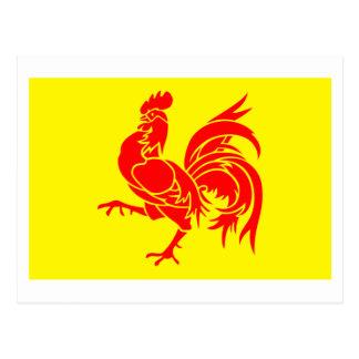 Bandera valona de la región postal
