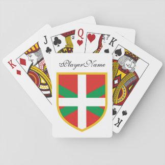 Bandera vasca baraja de póquer