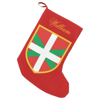 Bandera vasca bota navideña pequeña
