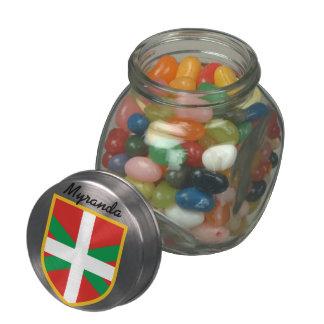 Bandera vasca frascos cristal