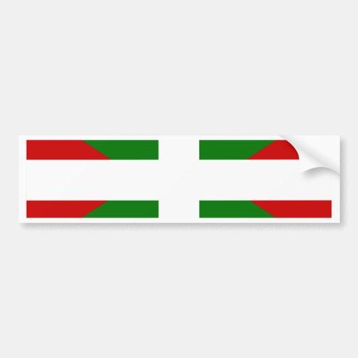 Bandera vasca pegatina de parachoque