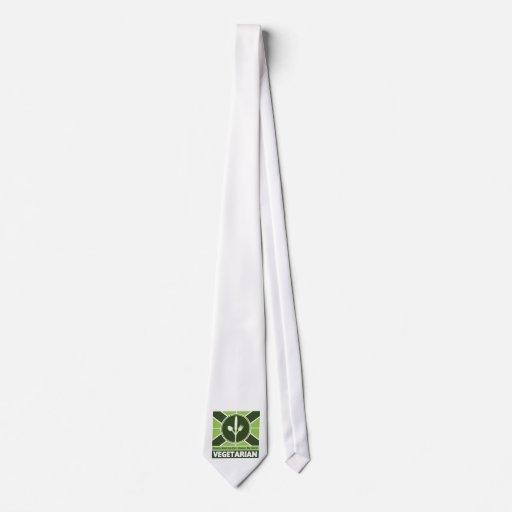 Bandera vegetariana corbatas personalizadas
