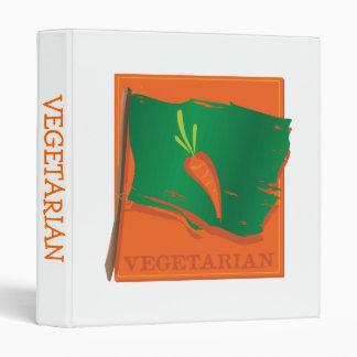"Bandera vegetariana de la zanahoria carpeta 1"""
