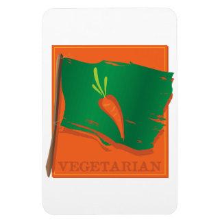 Bandera vegetariana de la zanahoria imanes flexibles
