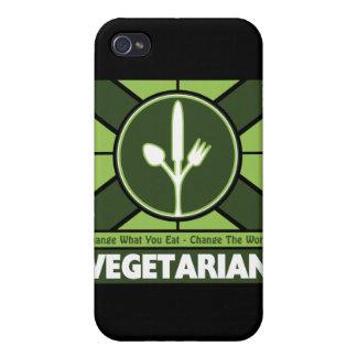 Bandera vegetariana iPhone 4/4S carcasas