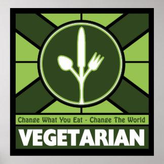 Bandera vegetariana poster