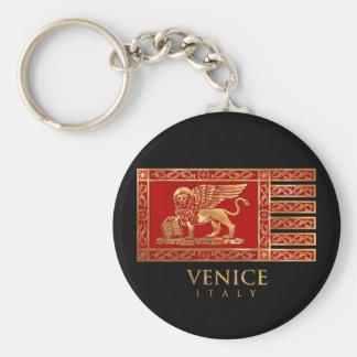Bandera veneciana llavero redondo tipo pin