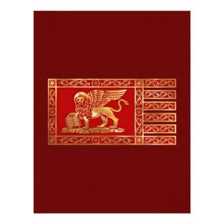 Bandera veneciana membrete personalizado