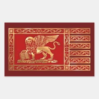 Bandera veneciana rectangular altavoces