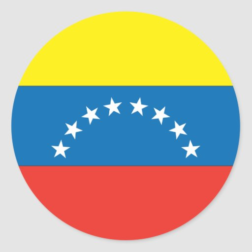 Bandera venezolana pegatinas redondas