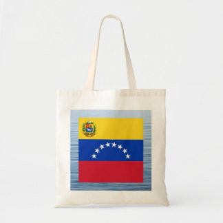 Bandera venezolana que flota en el agua bolsa tela barata