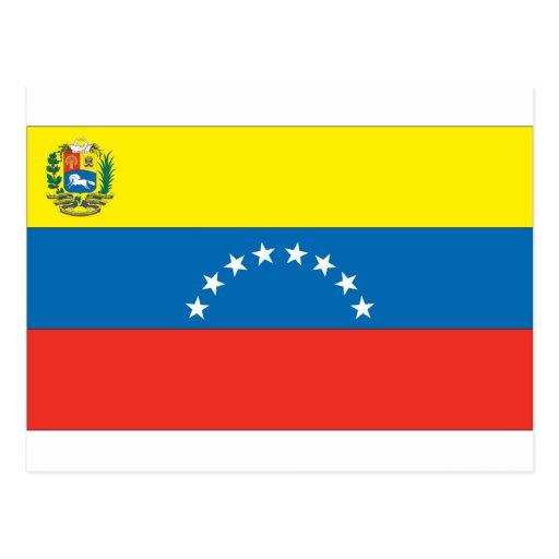 Bandera venezolana tarjeta postal