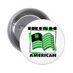Bandera verde americana irlandesa del KRW Pin