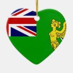 Bandera verde, bandera de Irlanda Ornamento De Navidad