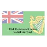 Bandera verde, bandera de Irlanda Plantilla De Tarjeta De Negocio