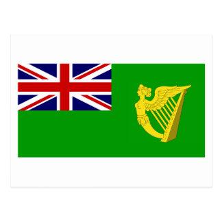 Bandera verde de Irlanda Tarjetas Postales