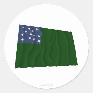 Bandera verde de los muchachos de la montaña pegatina redonda