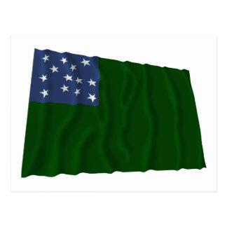 Bandera verde de los muchachos de la montaña postal