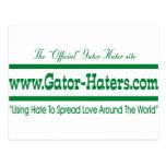 Bandera verde del enemigo del cocodrilo postales