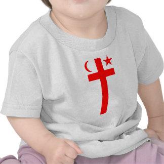 Bandera (vertical) del estado de Mikmaq Camisetas