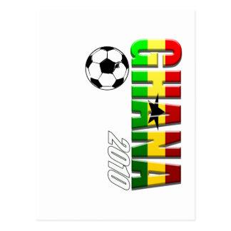 Bandera vertical del logotipo del fútbol de Ghana  Tarjetas Postales