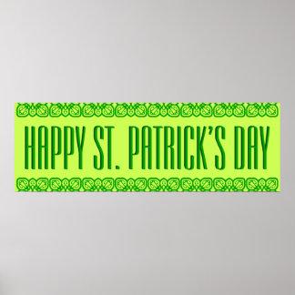 Bandera vibrante del día de St Patrick Póster