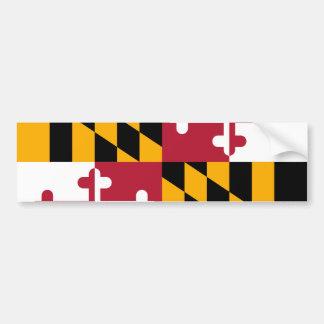Bandera vibrante del estado de Maryland Pegatina Para Auto