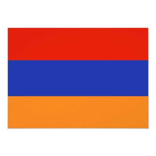"""Bandera vieja de Armenia Invitación 5"""" X 7"""""""