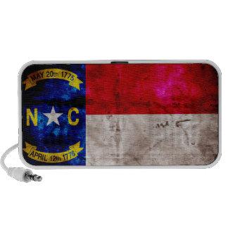 Bandera vieja de Carolina del Norte; Laptop Altavoces