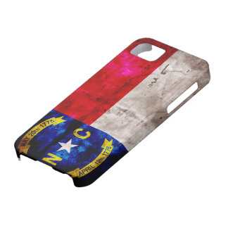 Bandera vieja de Carolina del Norte; iPhone 5 Case-Mate Fundas