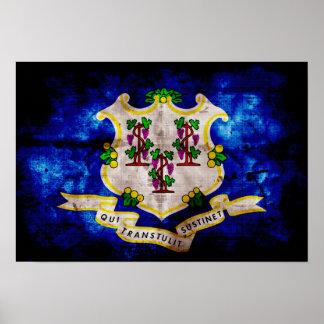 Bandera vieja de Connecticut Poster