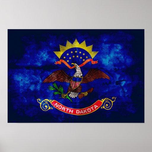 Bandera vieja de Dakota del Norte; Posters