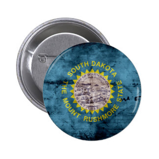 Bandera vieja de Dakota del Sur Pins