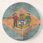 Bandera vieja de Delaware; Posavasos Para Bebidas