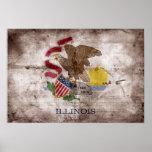 Bandera vieja de Illinoisan; Posters