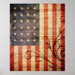 Bandera vieja de la estrella de la gloria 24 impresiones